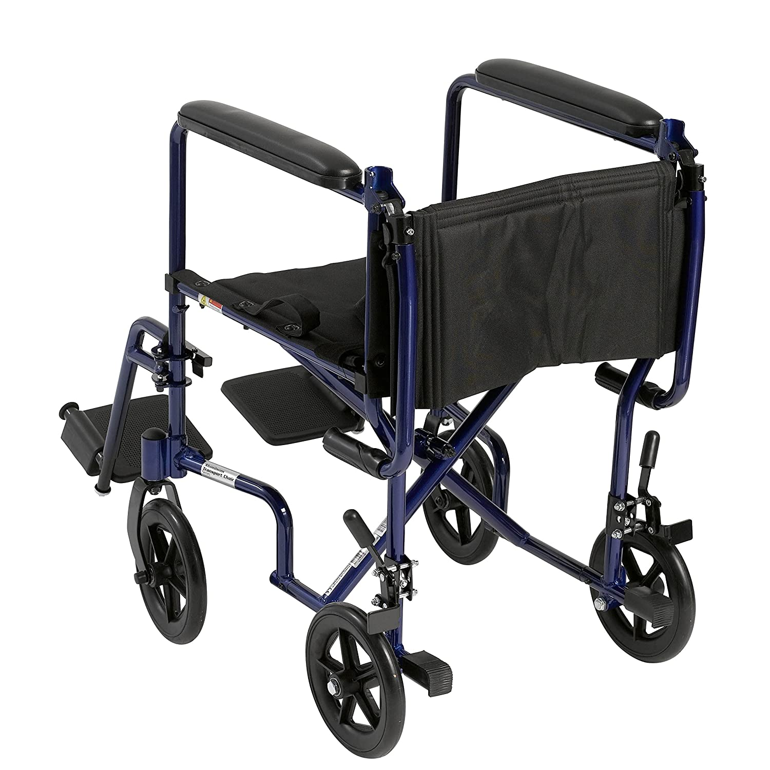 "Amazon Drive Medical Aluminum Transport Chair 19"" Blue"