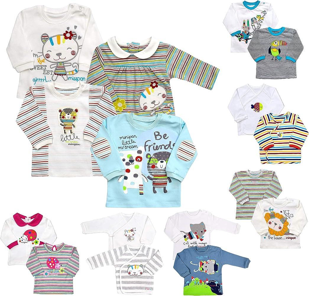 Pack de 2 Camisetas de Manga Larga para bebé, para niña, niña ...