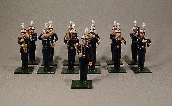 Soldados de plomo ALYMER de la Banda de Música de la Guardia Real española.