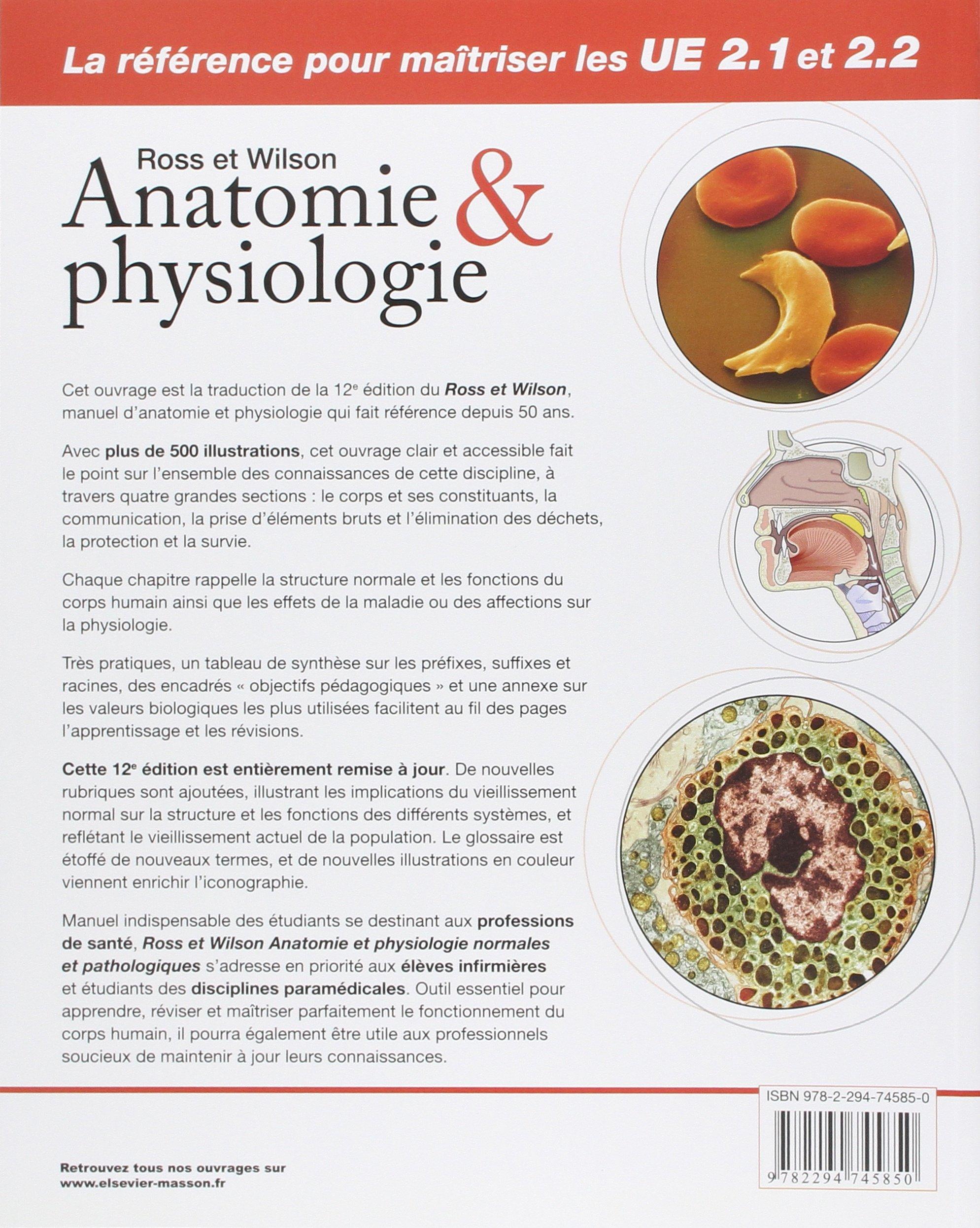 ROSS ET WILSON ANATOMIE ET PHYSIOLOGIE 12E ÉD.: Amazon.ca: Anne ...