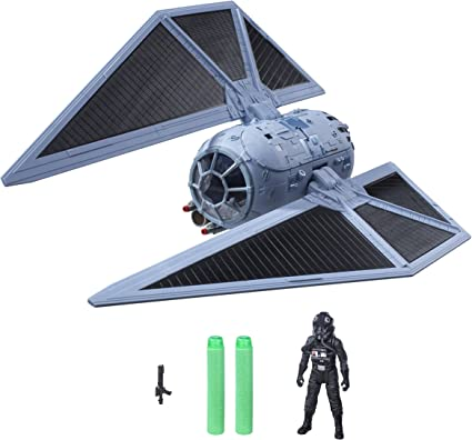 Star Wars Rogue One TIE Striker B7105 Vehicle Figure Pilot Fires Nerf Darts Toys