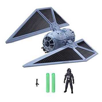 Star Wars Rogue One - Set con Figura, vehículo y Dardos Nerf Tie Striker (Hasbro B7105EU4)