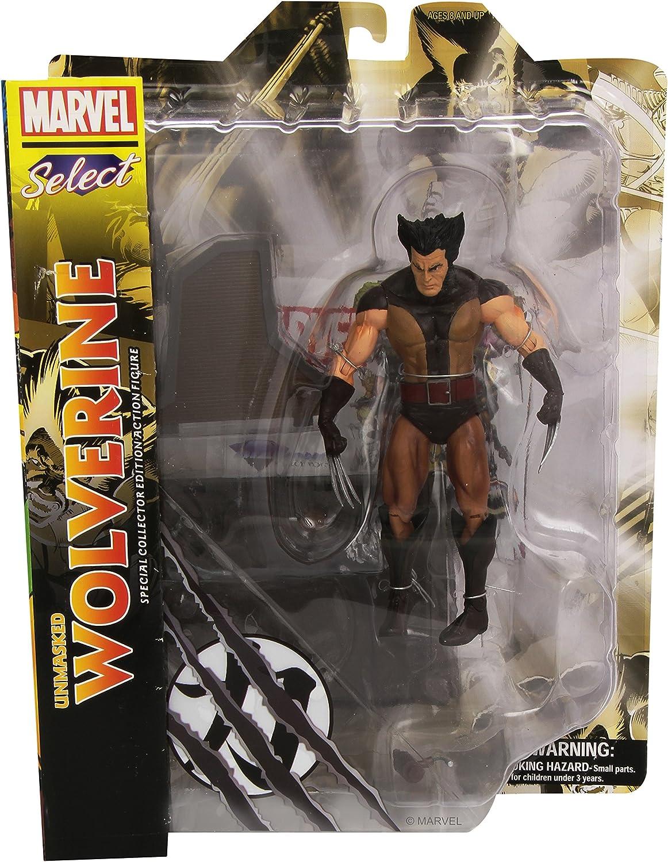 Diamond Select Marvel Select Unmasked Wolverine Figure: Amazon.es ...