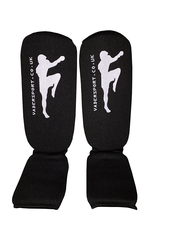 Karate Muay Thai MMA,UFC V.Sports Protector de Espinillas y Empeine El/ástico para Ni/ños Espinilleras para Taekwondo