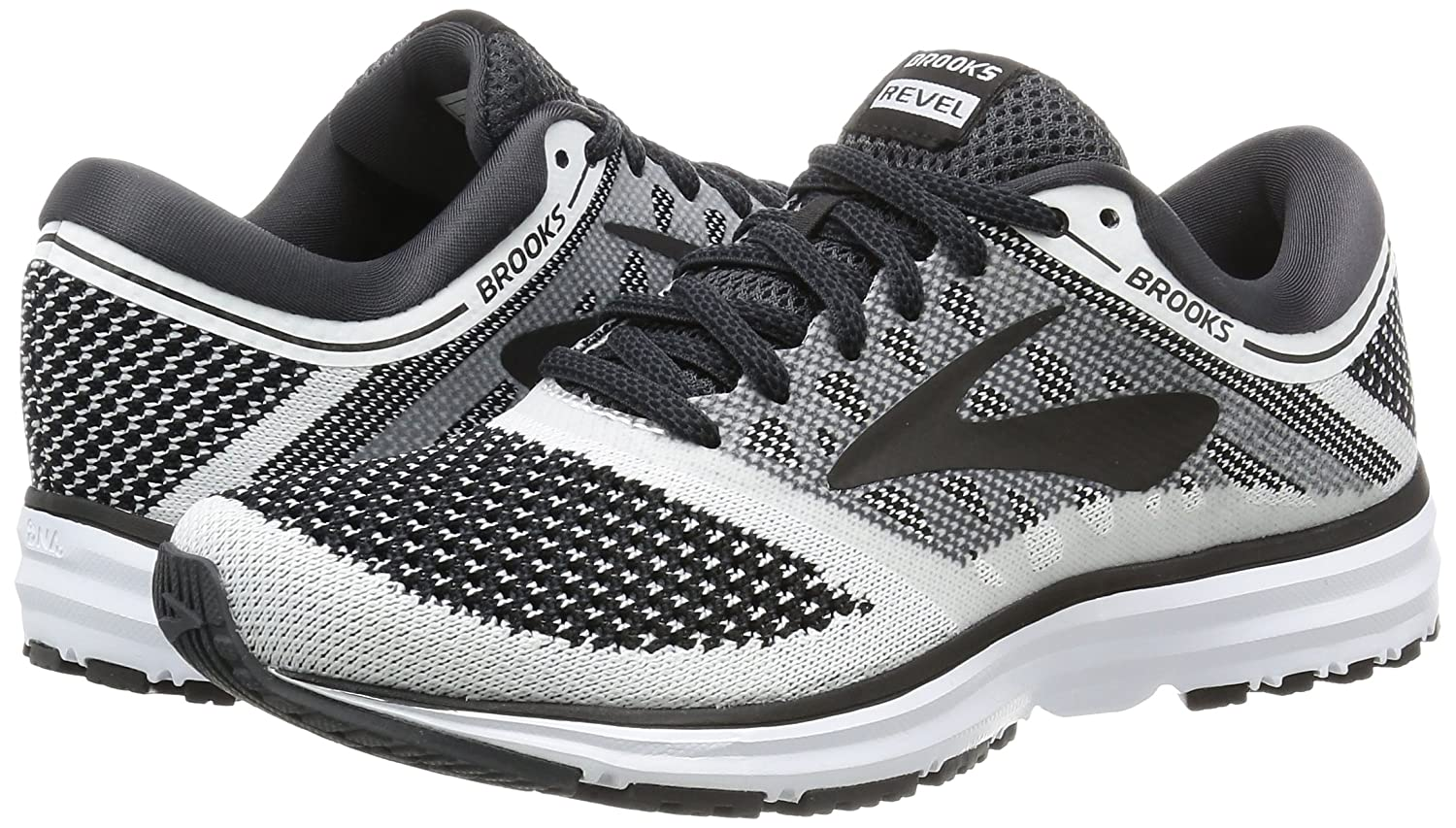 Brooks Womens Revel B01N073AO0 7.5 B(M) US|White/Anthracite/Black
