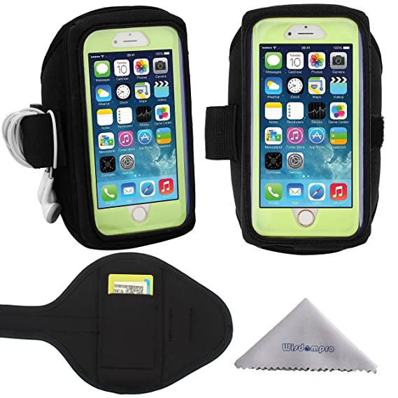purchase cheap 37109 4e4f1 iPhone 6, 6s Armband, Galaxy S7, S6, S5 Sports Armband for OtterBox  Defender or Commuter Series Or Lifeproof Cases by Wisdompro (Card Holder  and ...