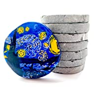 Capcouriers Rock Canvases - Rocks for Painting - Flat Painting Rocks - 7 Extremely Smooth Rock Canvases - Double Sided Painting Canvases - 2 inches in Length