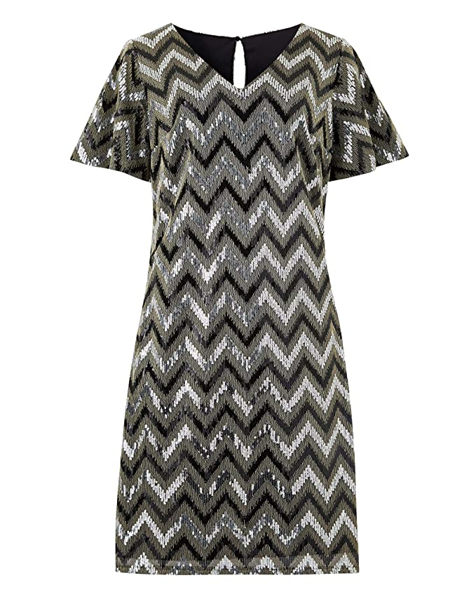 Vintage 1920s Dresses – Where to Buy JD Williams Womens Chevron Sequin Dress £21.60 AT vintagedancer.com