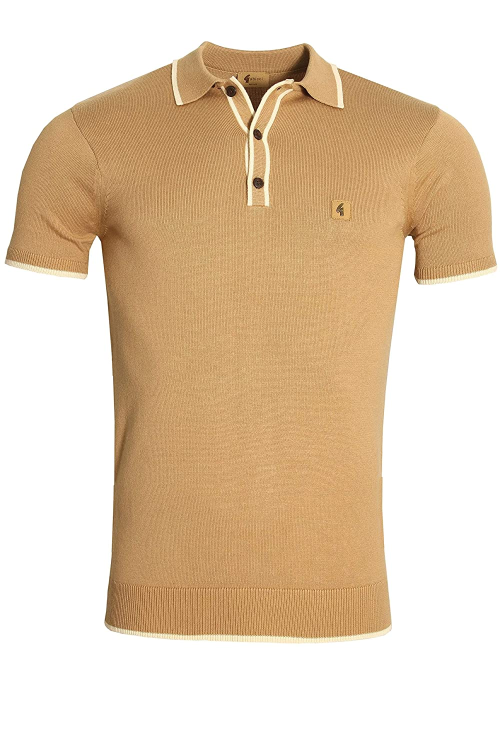 Gabicci Lineker Tip Collar Polo Shirt | Butter Scotch X-Large ...