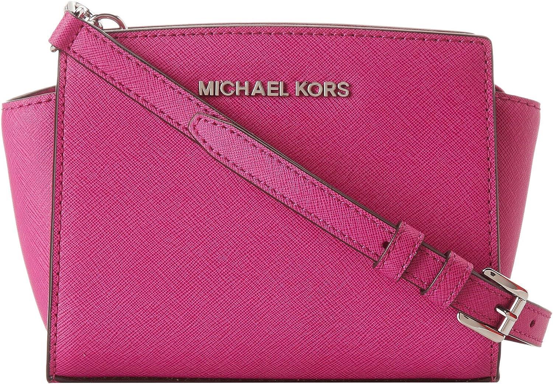 MICHAEL Michael Kors Selma Saffiano Leather Mini Messenger