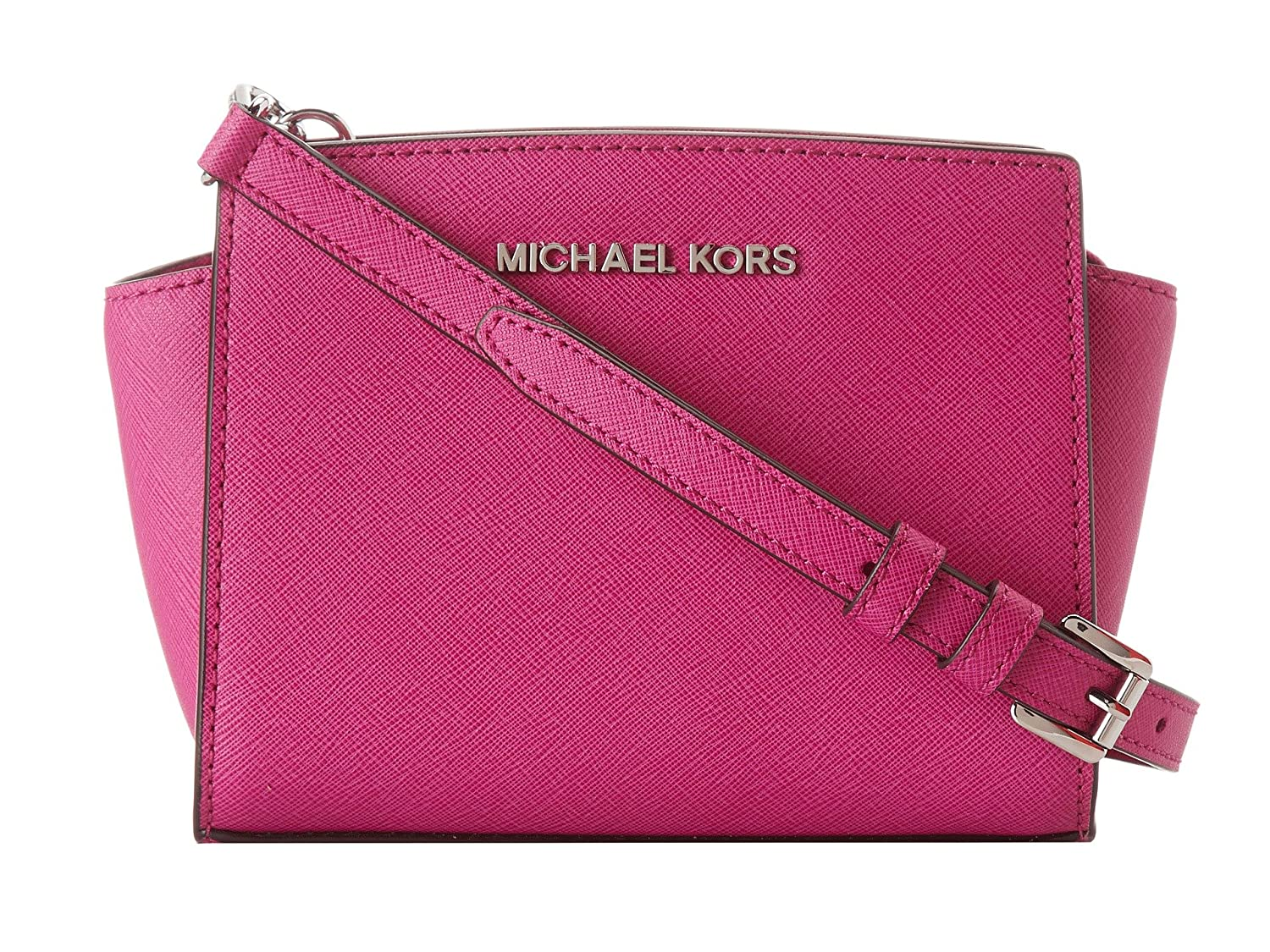 9dd4cb91f4b1 Amazon.com: Michael Kors Selma Mini Messenger Bag in Fuschia Pink: Clothing