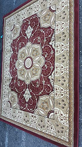Traditional Persian 500,000 Point Area Rug Burgundy Design 404 5 Feet 2 Inch X7 Feet 3 Inch