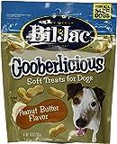 (4 Pack) Bil-Jac Gooberlicious Treats, Peanut Butter, 10 Ounces each