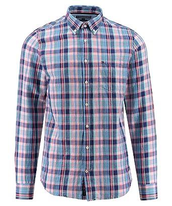 cc183a03f6005 Tommy Hilfiger - Camisa Casual - Cuadros - Manga Larga - para Hombre  Regatta S  Amazon.es  Ropa y accesorios