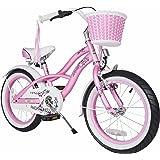 BIKESTAR Vélo enfant pour filles de 4 - 6 ans ★ Bicyclette enfant 16 pouces cruiser avec freins ★ Rose