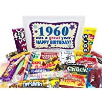 Woodstock Candy ~ 1960 60th Birthday Gift Box Nostalgic Retro Candy Mix from Childhood for 60 Year Old Man or Woman Born 1960 Jr