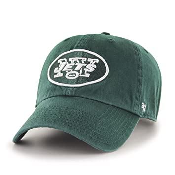 official photos 64b36 20d2e NFL New York Jets  47 Clean Up Adjustable Hat, Dark Green, One Size,  Baseball Caps - Amazon Canada