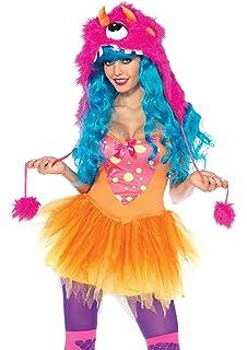 106a20d09a6 Amazon.com: Leg Avenue Women's 3 Piece Rebel Monster Costume, Black ...