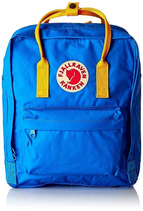 FJÄLLRÄVEN Kånken, Mochila Unisex Adulto, Azul (Un Blue/Warm Yellow) 24x36x45 cm (W x H x L): Amazon.es: Zapatos y complementos