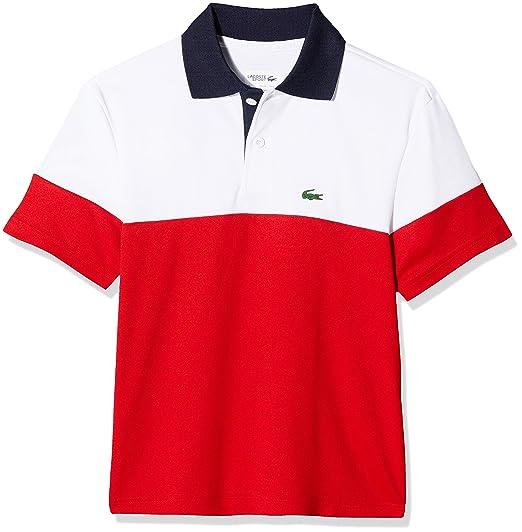 Lacoste Sport Dj5370 Polo, Rojo (Blanc/Rouge-Marine Zk5), 8 años ...