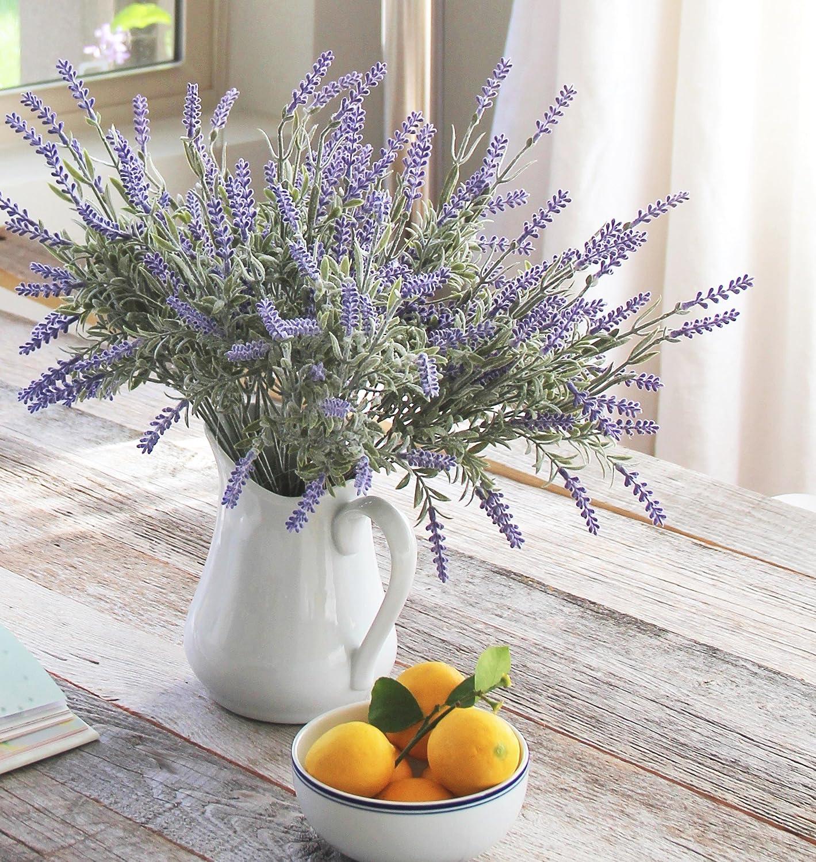 amazon com 8 bundle artificial flower purple lavender bouquet