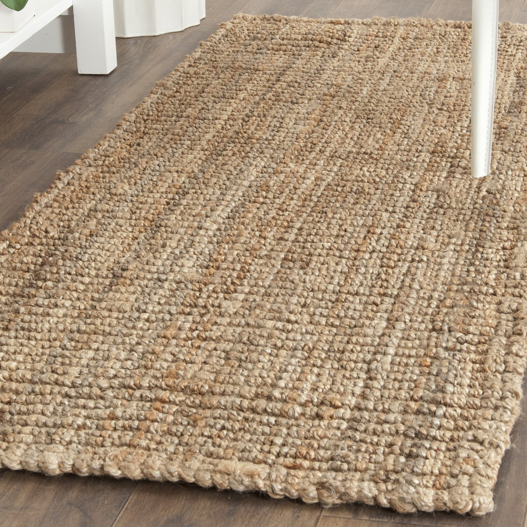 Safavieh Natural Fiber Collection NF447A Hand Woven Natural Jute Runner (2'6'' x 22')