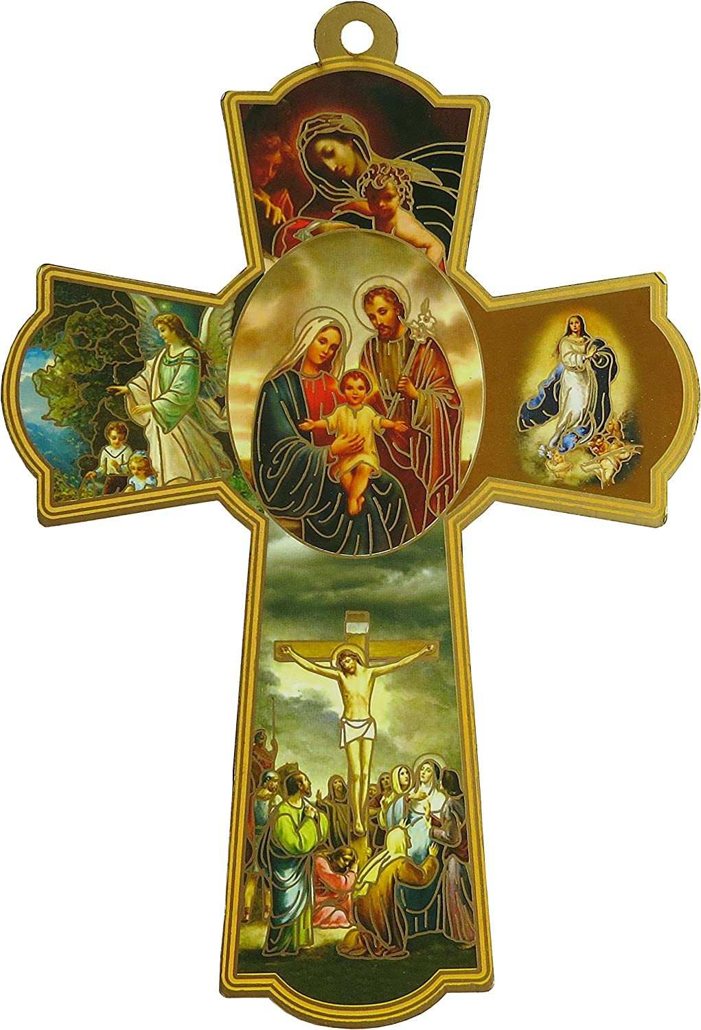 Catholic Gift Jesus Christ Lady of Guadalupe Hanging Ornament Wall Hanging Plaque Home Blessing Decor (GCCWHSF4-6)