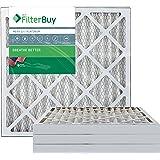 FilterBuy 20x20x2 MERV 13 Pleated AC Furnace Air Filter, (Pack of 4 Filters), 20x20x2 – Platinum