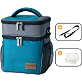 Insulated Lunch Box Lunch Bag for Men Women Kids,Collapsible Two Layer Travel Sports Soft Cooler Bag