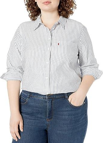 Levis Camisa de corte relajado de talla grande para mujer: Amazon.es: Ropa y accesorios
