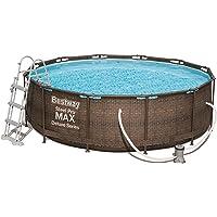 Bestway Steel ProMAX Deluxe Series Pool Set Juego de Piscinas con Marco de Acero con…