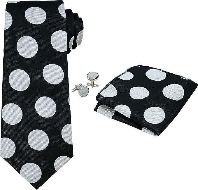 OCIA® rayas para hombre corbata de seda Conjunto:corbata + pañuelo ...