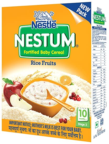 Nestle Nestum Infant Cereal Stage-3 (10 Months-24 Months) Rice 3 Fruits 300g