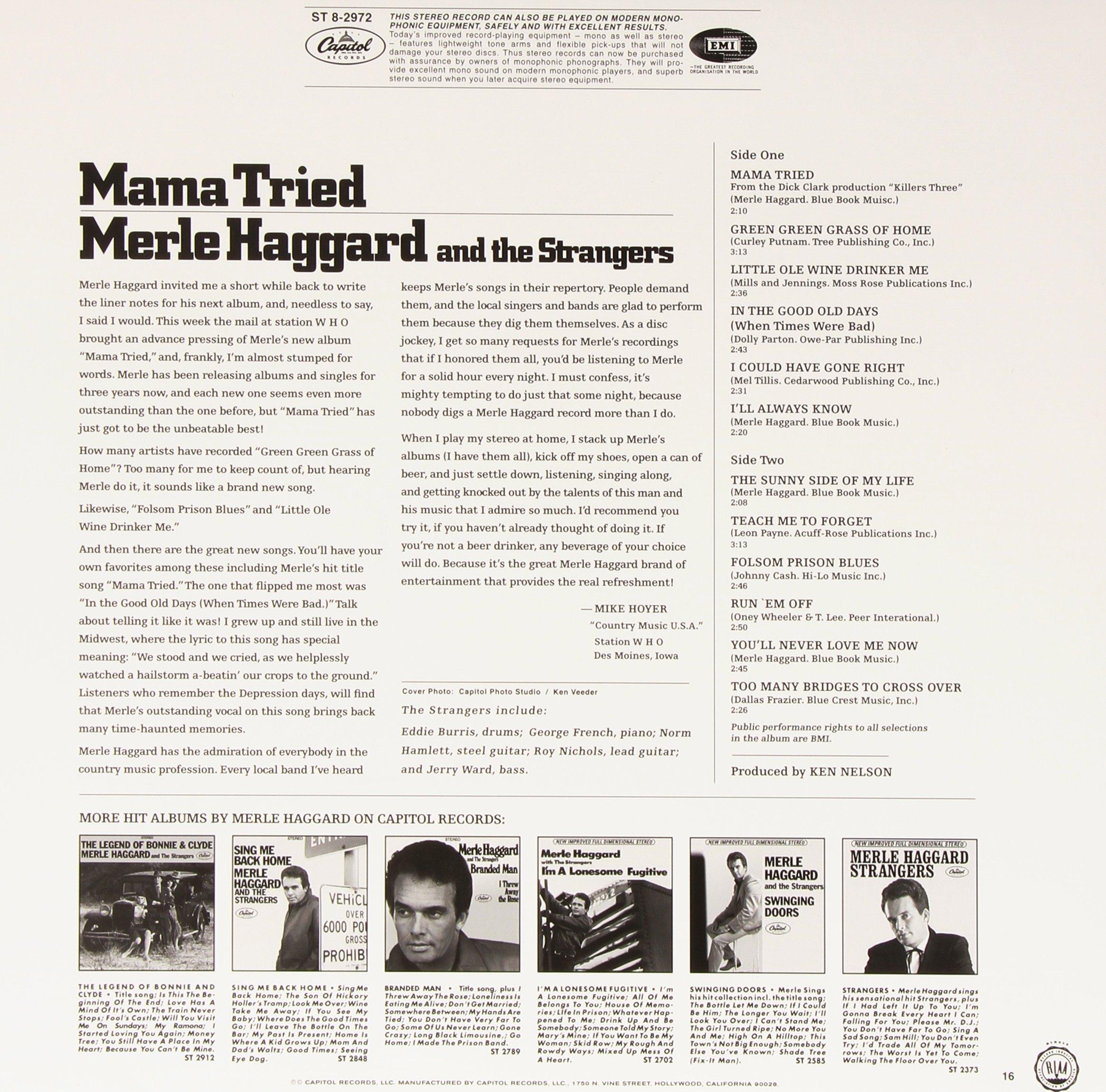 Mama Tried [Vinyl]