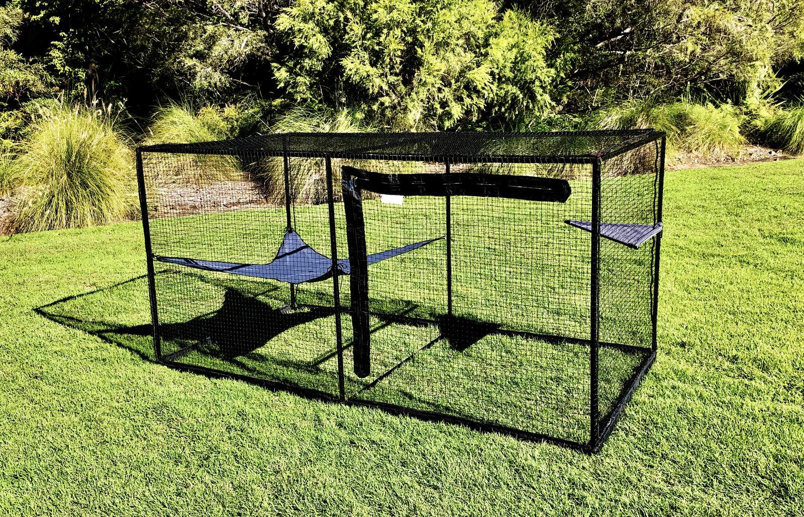 La Luna Pet Care Cat Enclosure | Cat Enclosure | Outdoor Cat Enclosure | Cat Play Pen | Indoor Outdoor Cat Tent | 47.2'' x 47.2'' x 94.4'' by La Luna Pet Care