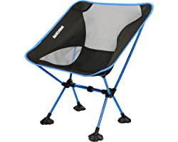 MARCHWAY Ultralight Folding Camping Chair with Anti-Sinking Wide Feet, Portable Compact for Outdoor Camp, Beach, Travel, Picn