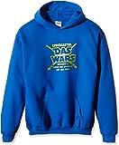 Coole-Fun-T-Shirts Jungen Kapuzenpullover Kindergarten Das Wars,122/128, Blau (Blau-Gold