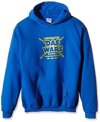 bieten eine große Auswahl an Schnelle Lieferung New York Coole-Fun-T-Shirts Jungen Kapuzenpullover KINDERGARTEN DAS WARS,122/128,  Blau (blau-gold