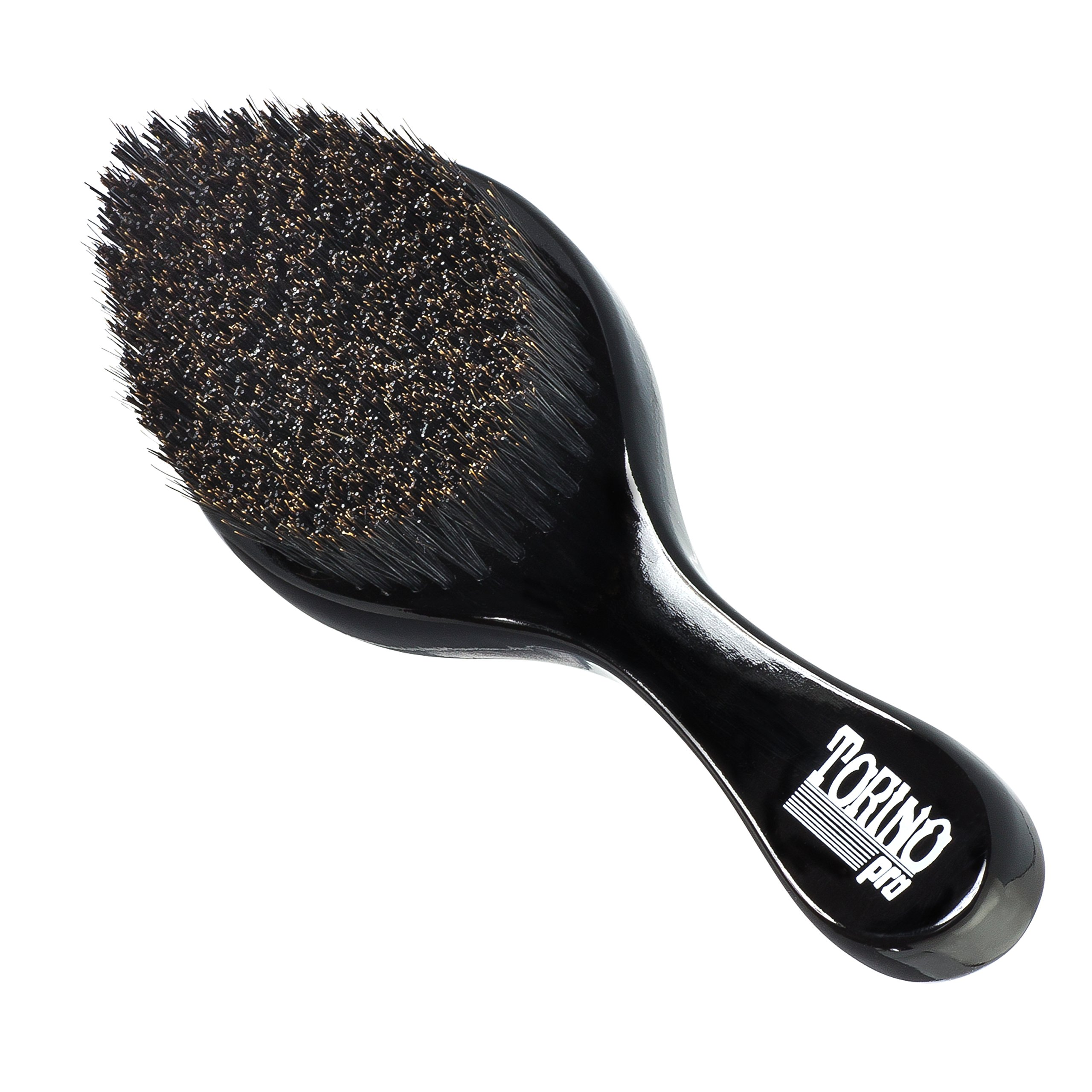 Torino Pro Curve Wave Brush by Brush King - #450 - Medium Hard Curve Wave Brush - Made with Reinforced Boar & Nylon Bristles -True Texture Medium Hard 360 Waves Brushes by Torino Pro (Image #1)