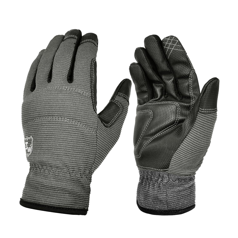 Large, Black General Utility Flex Improved Excellent Grip Work Gloves