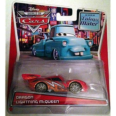 Disney Pixar Cars, Toon Die-Cast, Dragon Lightning McQueen, 1:55 Scale: Toys & Games