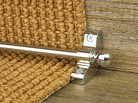 West Derby Carpets EXtreme® Jubilee Stair Rods ~ Satin Silver/Chrome   Easy  Rods