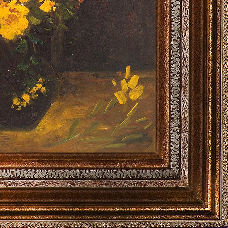 Amazon Overstockart Vase With Viscaria Poppy Flowers Framed