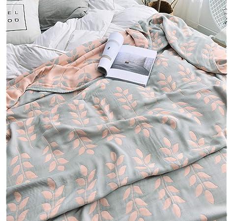 Amazon.com: MEJU Coral Muslin Lightweight Summer Blanket for ...