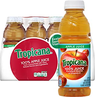 product image for Tropicana 100% Apple Juice, 15.2 fl oz Bottles, (Pack of 12)