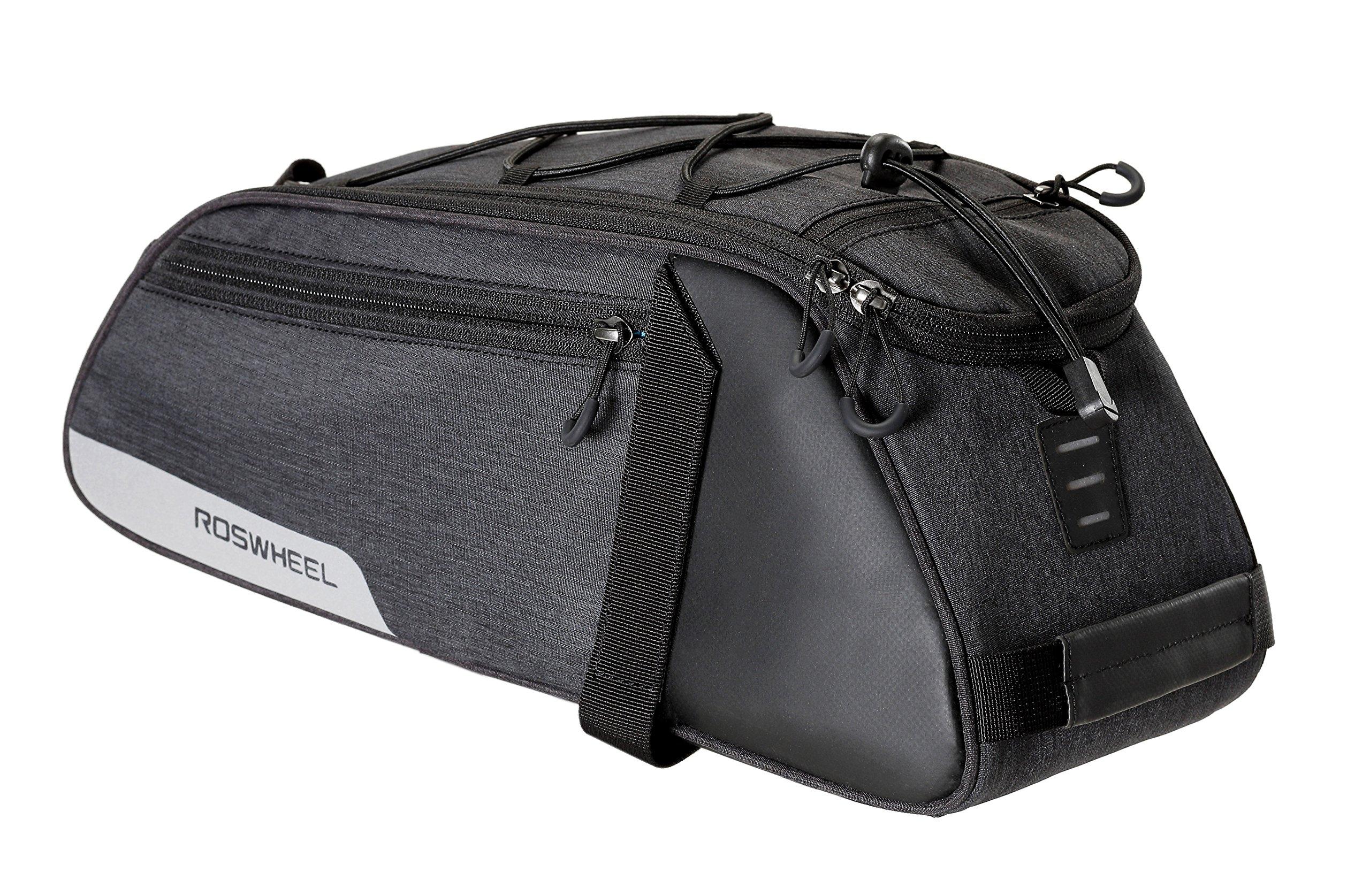 Roswheel Essentials Series 141466 Bike Trunk Bag Bicycle Rear Rack Pack Cycling Accessories Pannier, 8L Capacity by Roswheel (Image #2)