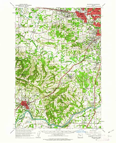 Amazon Com Yellowmaps Beaverton Or Topo Map 1 62500 Scale 15 X 15
