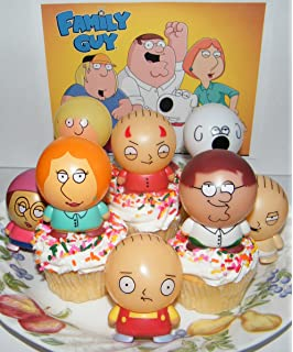 family guy figure cake topper cupcake party decoration set of  with devil stewie peter: guy kitchen meg