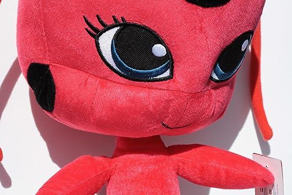 Tikki 35cm Peluche Kwami de Marinette Prodigiosa Las aventuras de Ladybug Mariquita Roja con Antenitas Tamaño Grande: Amazon.es: Juguetes y juegos