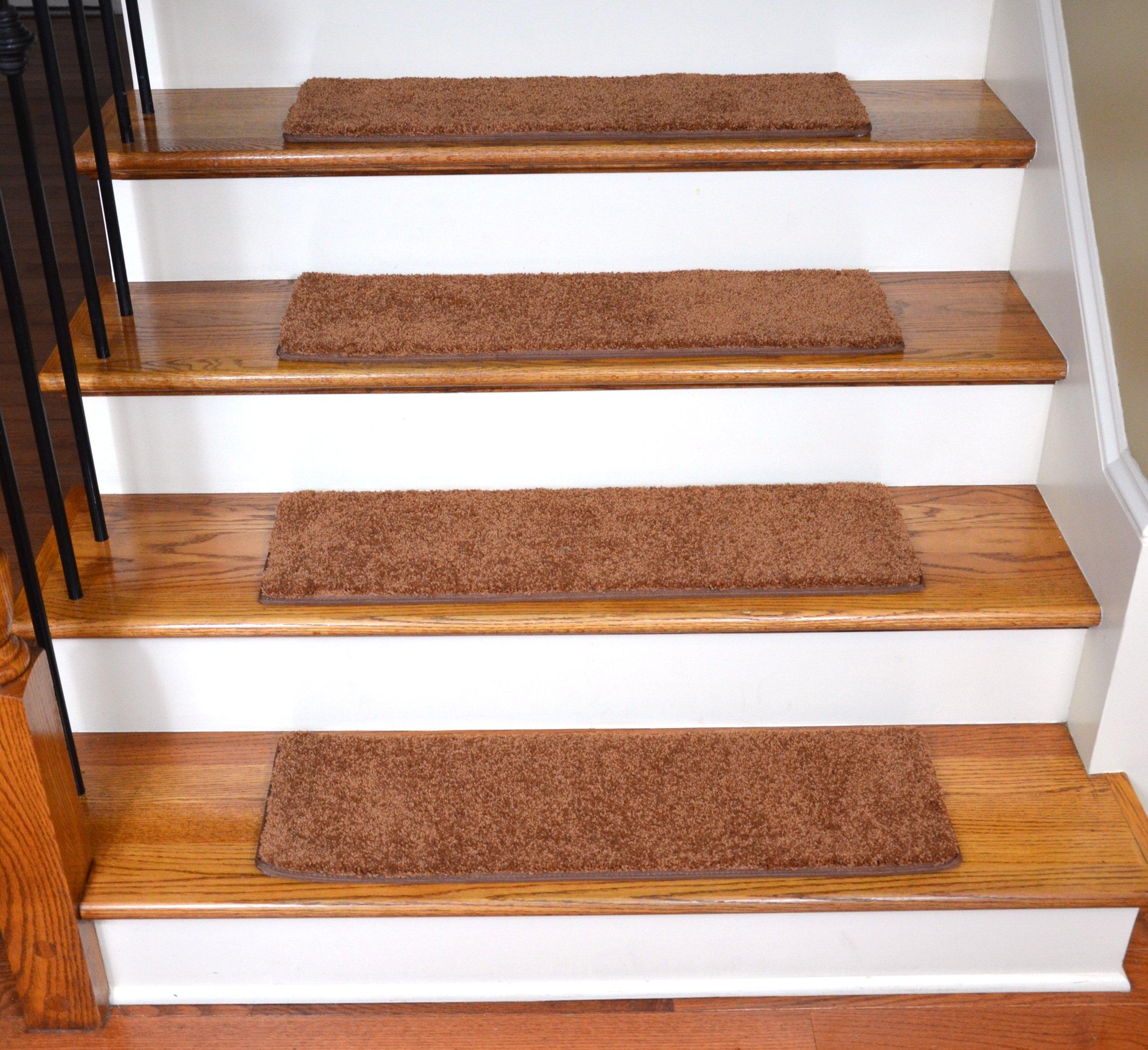 Dean Ultra Premium Stair Gripper Non-Slip Tape Free Pet Friendly DIY Carpet Stair Treads/Rugs 30'' x 9'' (15) - Color: Pumpkin Spice